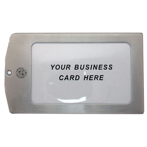Luggage Tag LXG Metal w/ crest - Stainless
