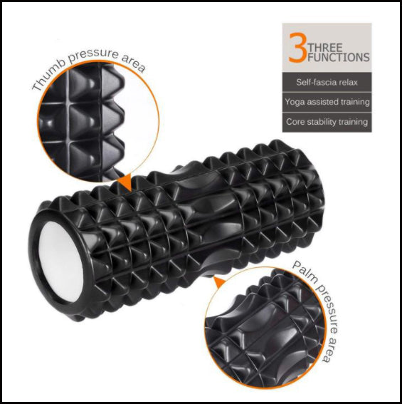 Delbarton Incubator - 3 in 1 Foam Roller Recovery Set with Carrying Bag - Black, Green, Blue, or Purple