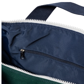 Duffle - Hudson Sutler - LARGE Green with Navy Blue Straps - Weekender - Custom Order
