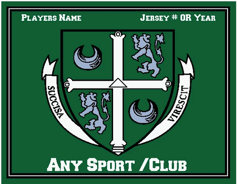 Blanket -  Delbarton Crest with Name, Year and Sport - Personalized - Custom Order