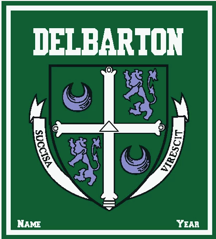 Blanket - Delbarton Crest with Name and Year - Personalized - Custom Order
