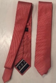 Lazy Jack Tie – Red Woven with Crest in lining
