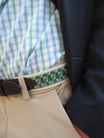 Belt - VV Green with Delbarton Crest