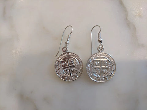 Earrings - Sterling Silver Crest Earrings