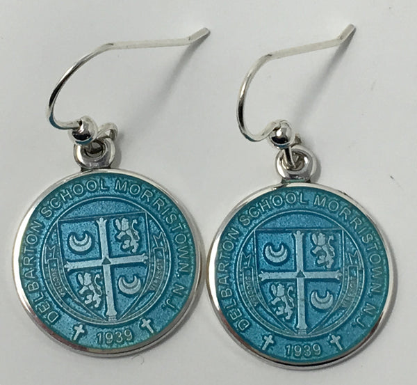 Earrings - enamel crest