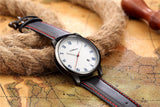 Classic Roman Leather Stitched Watch - AyWear