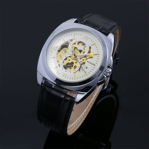Mechanical Skeleton Stainless Steel Automatic Watch