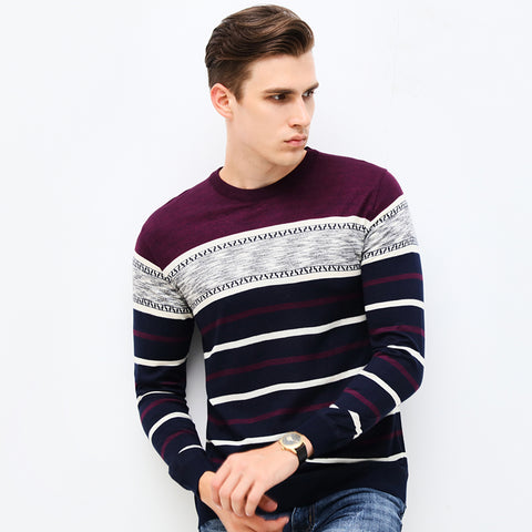 Casual Knitted Striped Sweater