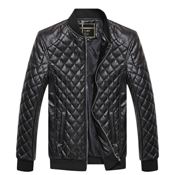 Leather Bomber Style Jacket - AyWear