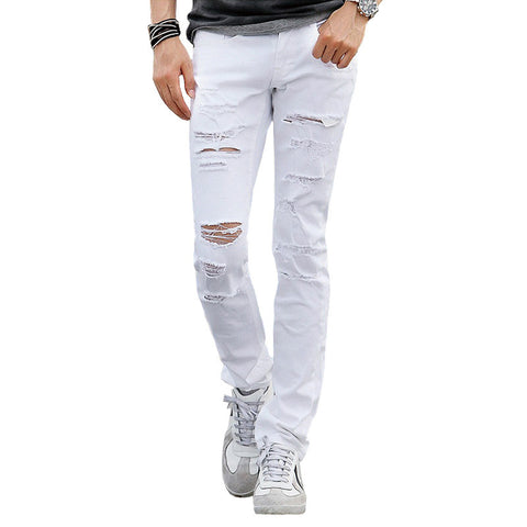 Deep Ripped Men's Skinny Jeans