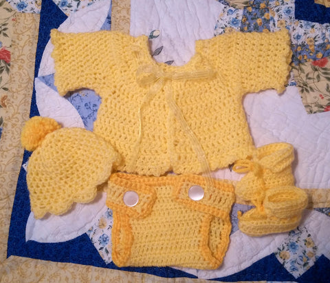 Walking in Sunshine Layette Set - Sunshine Yellow