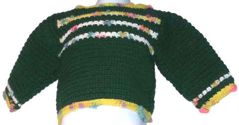 Green Banded Pullover Sweater - 4T-6T