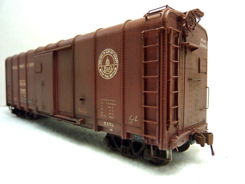 B&O M-15K boxcar painted and weathered with Modelers Acrylic Airbrush Paint G. Toman