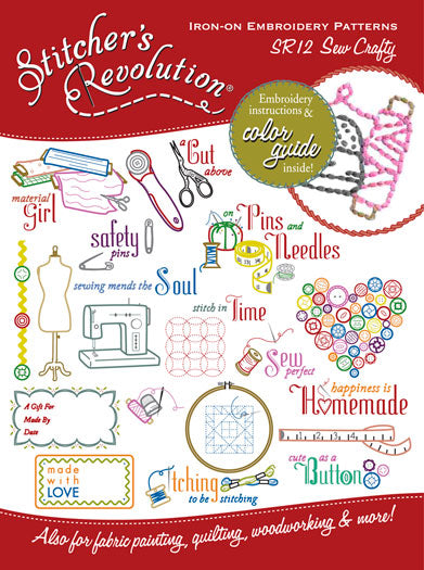 Stitcher's Revolution Sew Craft Iron On Transfer Embroidery Pattern