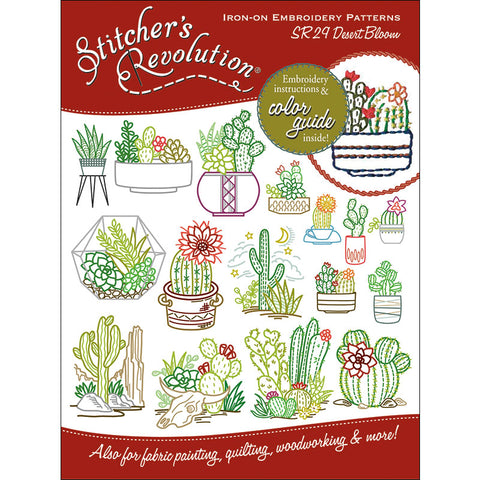 Stitcher's Revolution Desert Iron On Transfer Embroidery Pattern