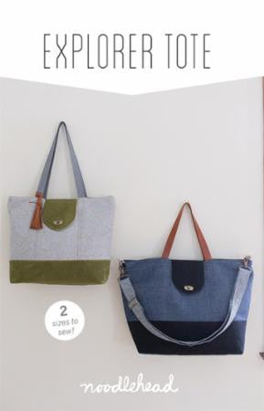 Explorer Tote Sewing Pattern by Noodlehead