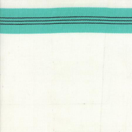 "16"" Toweling White with Aqua Stripe"