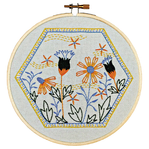 Summer Breeze -- Cozy Blue Embroidery Kit