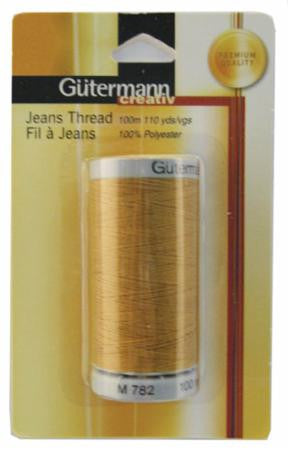 Gutermann Gold Jeans Thread ---110 yds