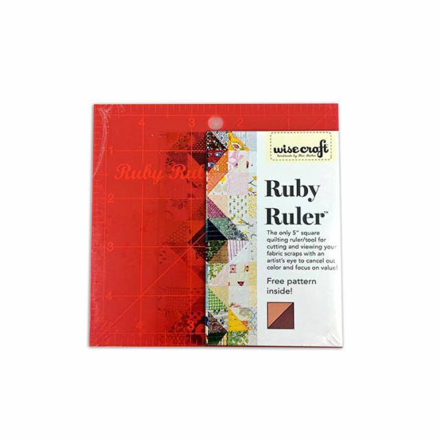 "5"" Square Ruby Ruler Acrylic --  Wise Craft Quilts"