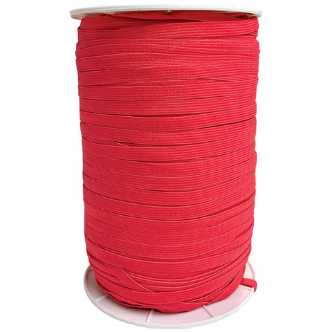 "1/4"" Soft Elastic in Hot Red"