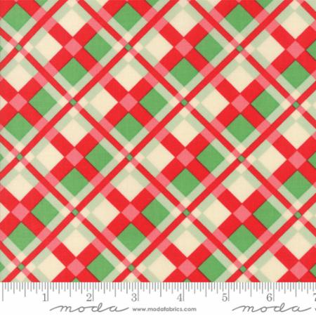 Swell Christmas Red/Green Plaid --- Cotton PVC Coated (Laminated) -- Urban Chiks
