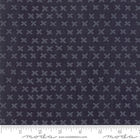 Watercolor X in Midnight  -- Twilight by One Canoe Two for Moda Fabrics