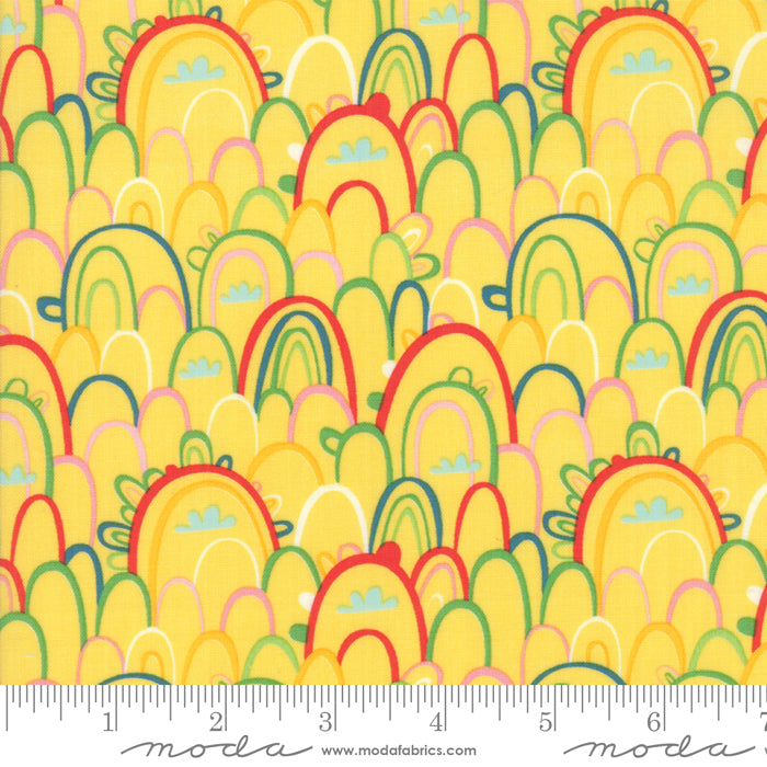 Rainbow Paradise in Yellow -- Best Friends Forever -- Stacy Iest Hsu for Moda Fabrics