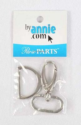 "1"" Nickel Swivel & D-Ring Set -- By Annie"