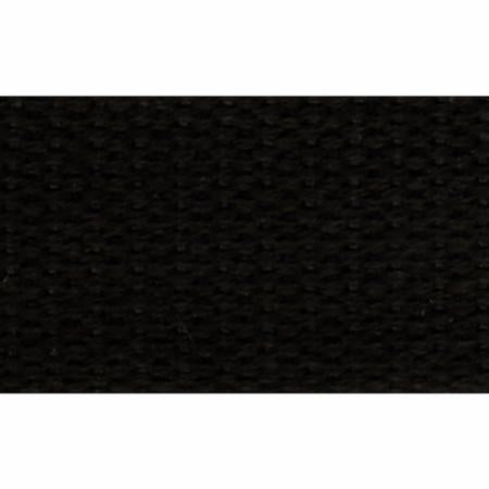 "1"" black cotton webbing by half hard"