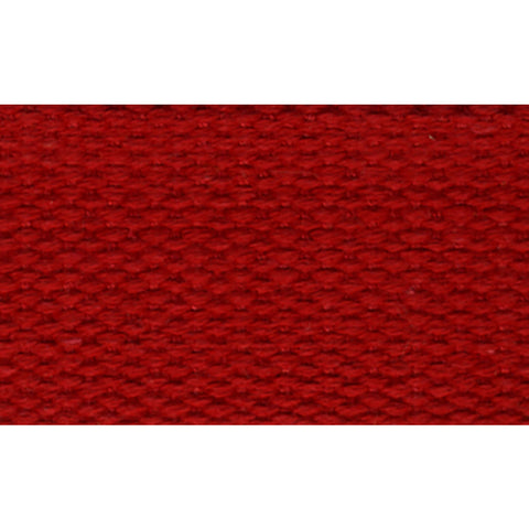 "1 1/2"" 100% Cotton Strapping/Webbing -- Red"