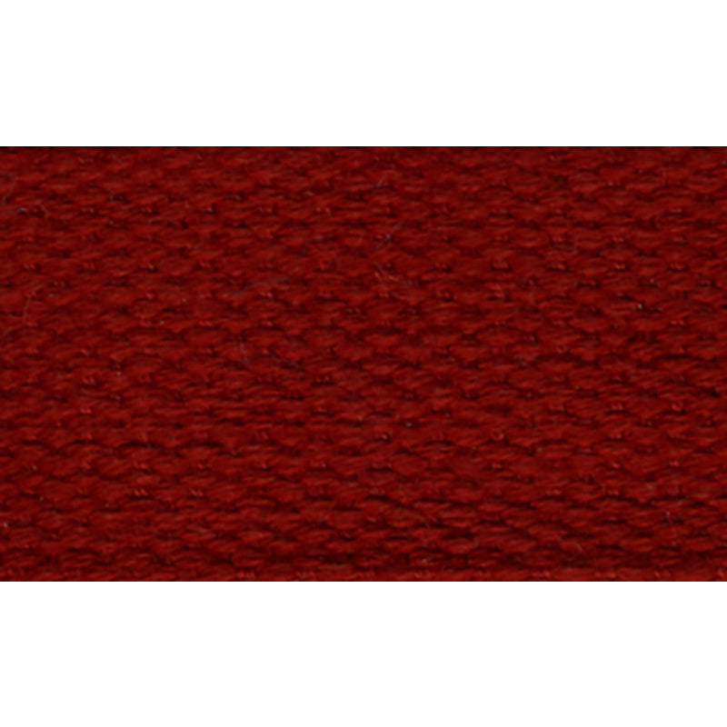 "1 1/2"" 100% Cotton Strapping/Webbing -- Burgundy"