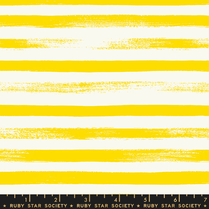 Lemon Yellow Stripe -- Zip Basics by Rashida Coleman-Hale for Ruby Star Society -- Moda Fabric