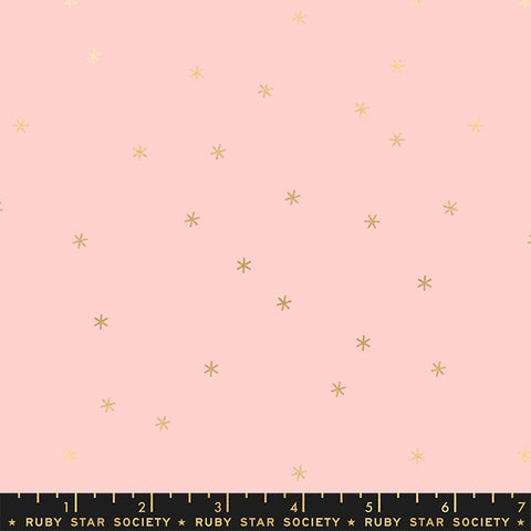 Spark in Metallic Pale Pink -- Melody Miller for Ruby Star Society -- Moda Fabric