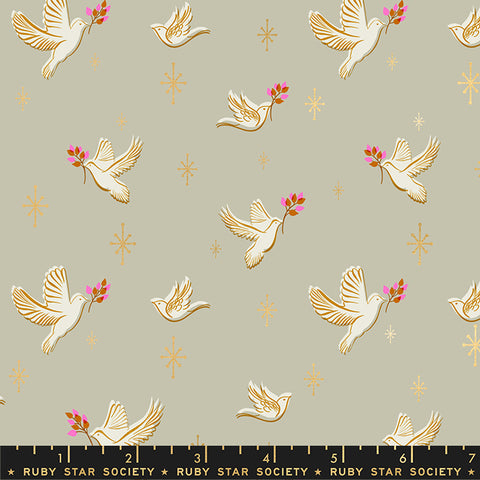 Doves in Wool -- Candlelight Prints -- Alexa Abegg + Melody Miller for Ruby Star Society  --- Moda Fabric