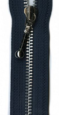 "Silver 26"" Separating Zipper --  Navy"