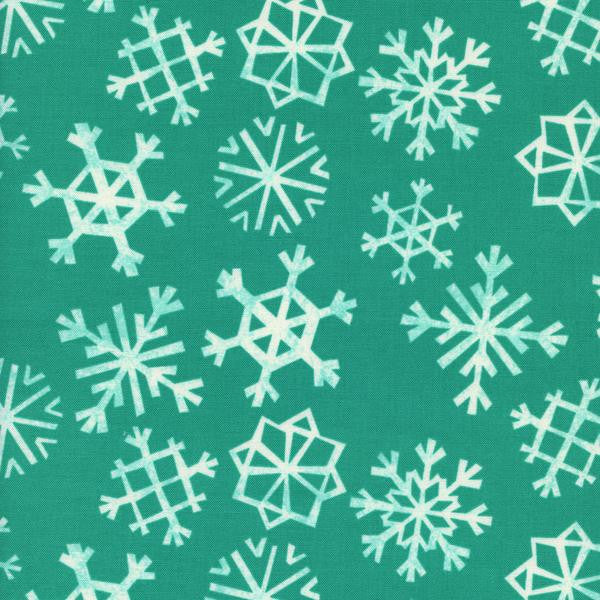 Teal Snowflakes by Rashida Coleman-Hale-- Garland-- Cotton + Steel