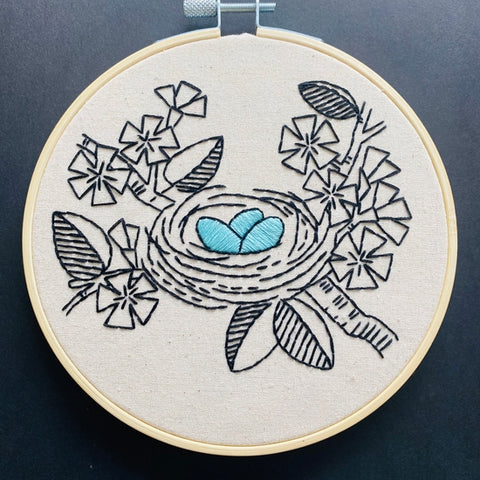 Nest Egg Embroidery Kit by Hook, Line, and Tinker Embroidery