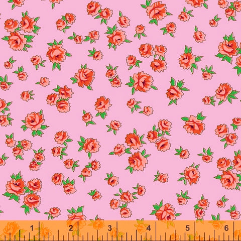 Little Roses in Pink -- Posy by Annabel Wrigley --- Windham Fabrics