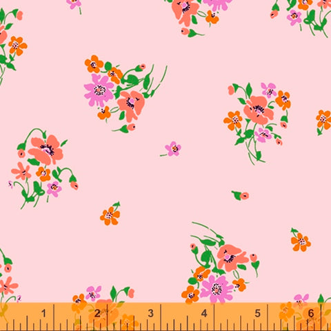 Posies in Pale Pink -- Posy by Annabel Wrigley --- Windham Fabrics