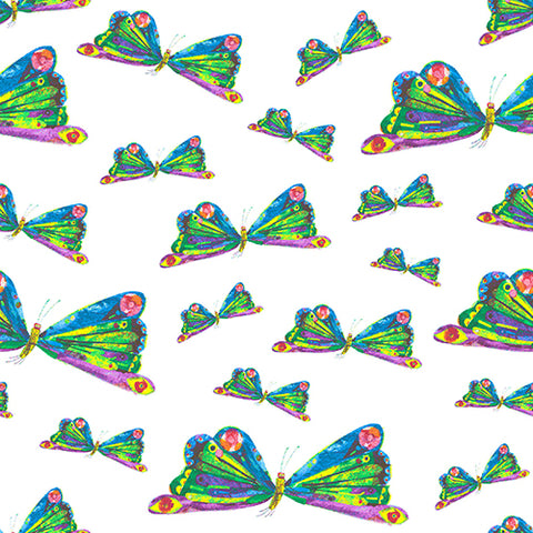 Butterfly Dance Panel in Multi ---  The Very Hungry Caterpillar by Eric Carle for Andover Fabrics