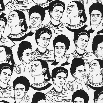 Frida Kahlo Black & White --- Robert Kaufman Fabrics