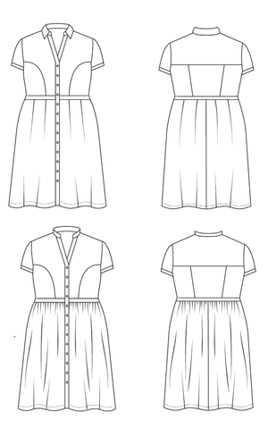 Lennox Shirtdress Pattern by Cashmerette