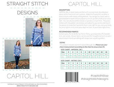 Capitol Hill Dress/Tunic Pattern --- Straight Stitch Design