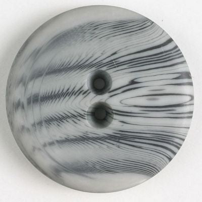 Fashion Button 23mm, Grey Polyester