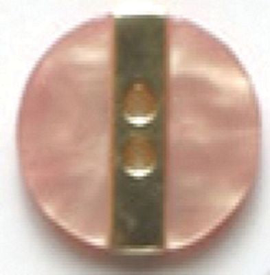 Dill Button 11/16 Pink with Metallic