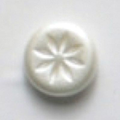 White 14mm Polyamide Button