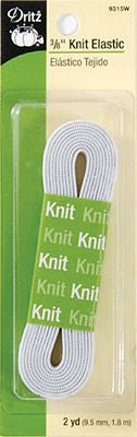 "3/8"" White Elastic -- 2yd per package"