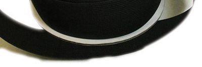 "1.5"" Heavy Stretch Elastic Black -- by half yard"