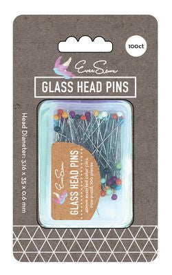 EverSewn Color Glass Pearl Pin 100 ct